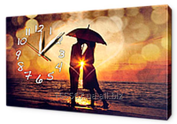 Часы-картины на холсте 30 х 53 см L107