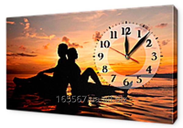 Часы на холсте 30 х 53 см L214
