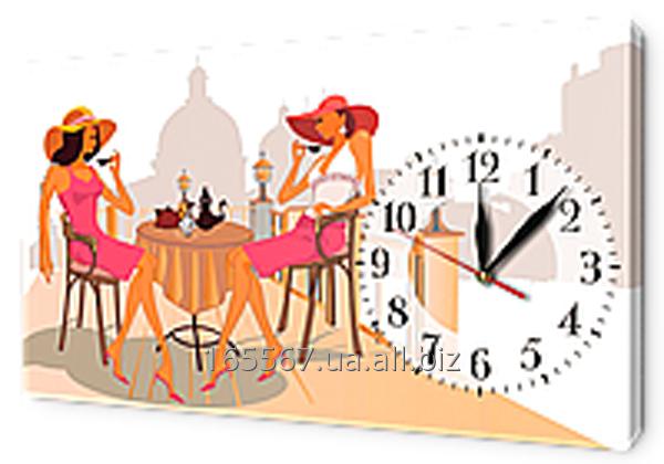 Часы на холсте 30 х 53 см L636