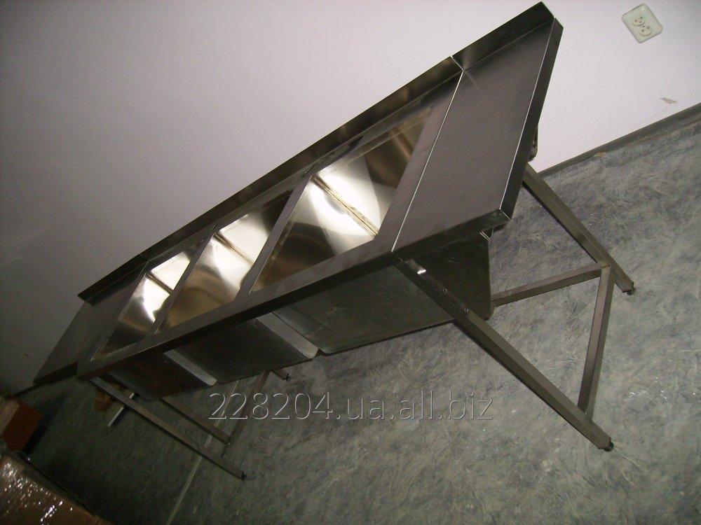 Стол мойка 3 х секц. 2400х600х850 чаша 520х450х300