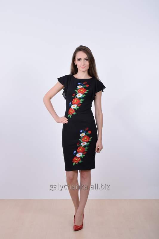 Вишита сукня Променад чорна купить в Львове 12775d9ac3212