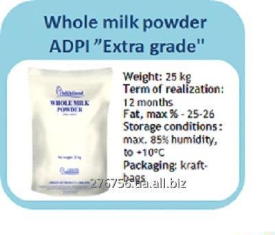 Молоко сухое цельное высший сорт ADPI