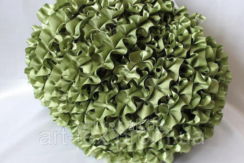 Рюши - атлас, 5см*50м Зеленый