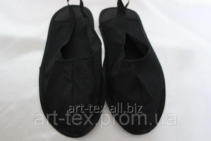 Купить Тапочки мужские похоронные Черный 44