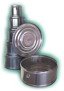 Коробка стерилизационная круглая с фильтром КСКФ-18 объем 18 дм3, диаметр 390мм,  артикул 1108