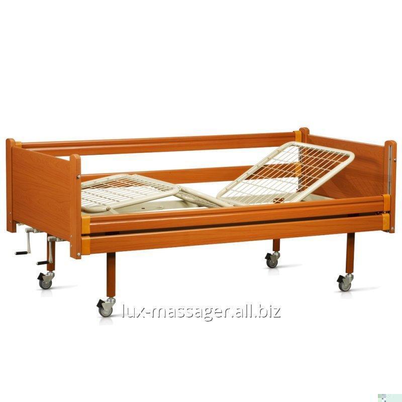 Кровать деревянная функциональная трехсекционная, артикул OSD-94
