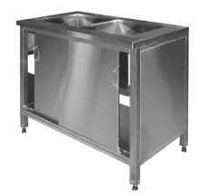 Моечная ванна-тумба для кухонь ресторанов, столовых, кафе