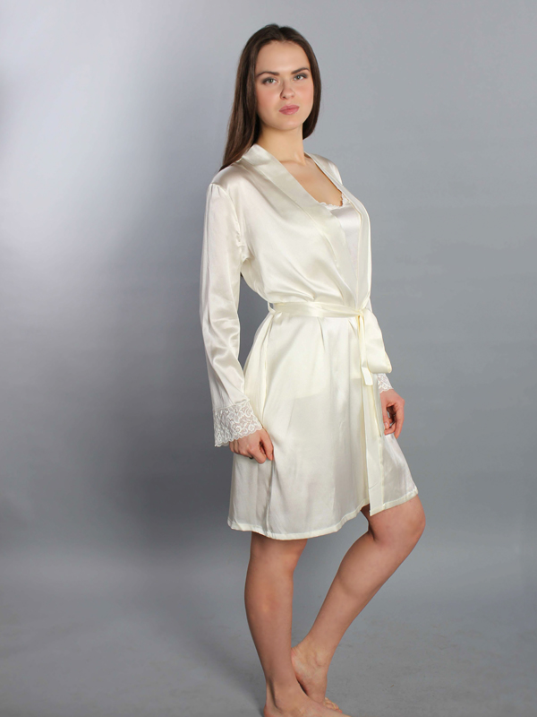 Silk dressing gown female \