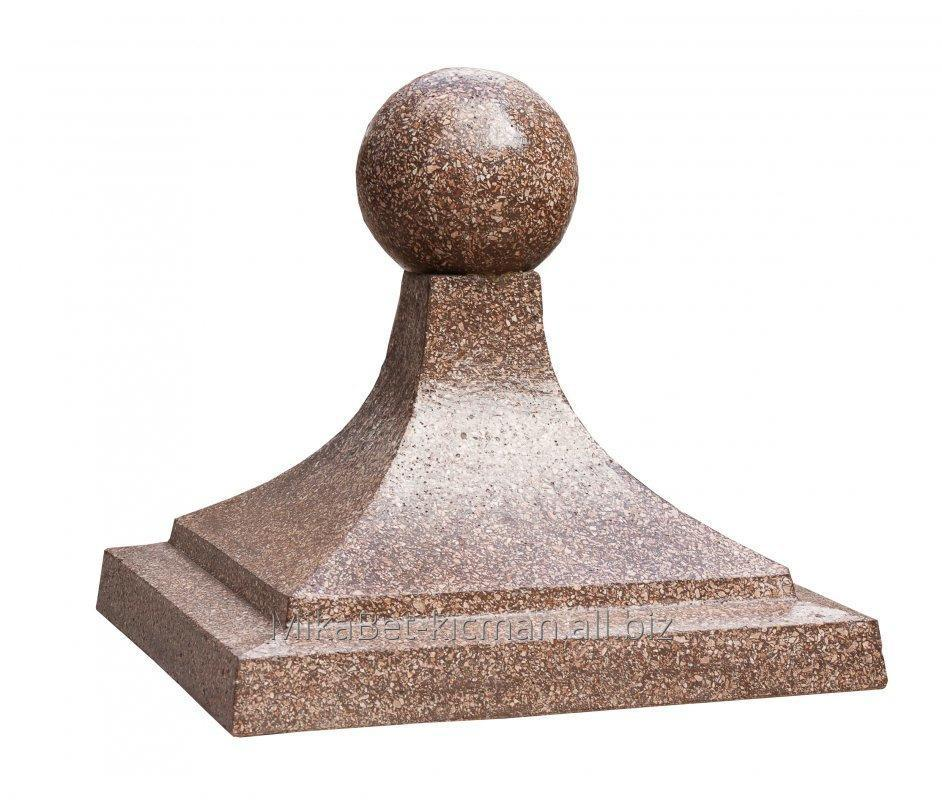 "Buy Cap on a column ""Olympic Games"", concrete with a mramrony crumb"