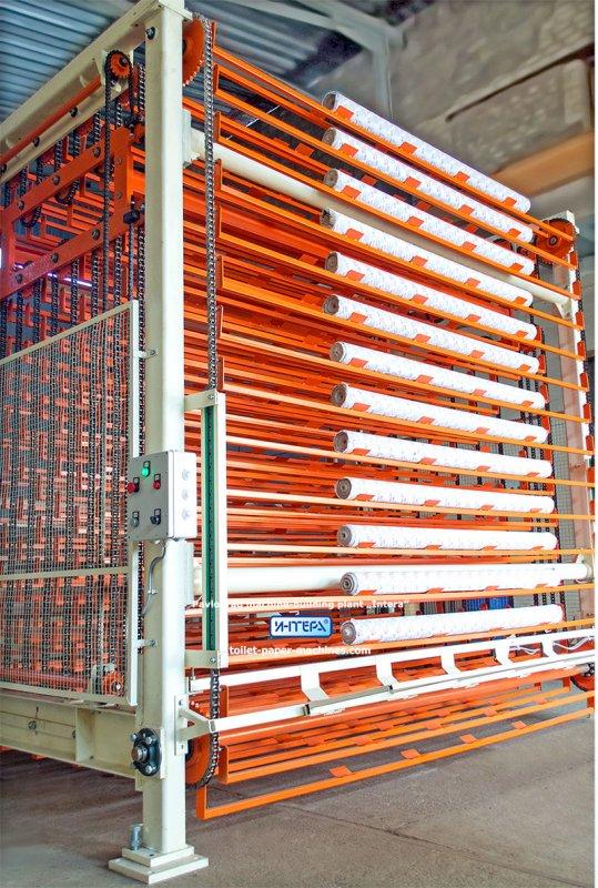 Utstyr for produksjon av toalettpapir