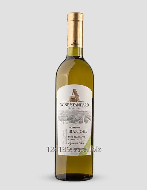 Купить Вино Шардоне сухое Премиум, 0,75 литров