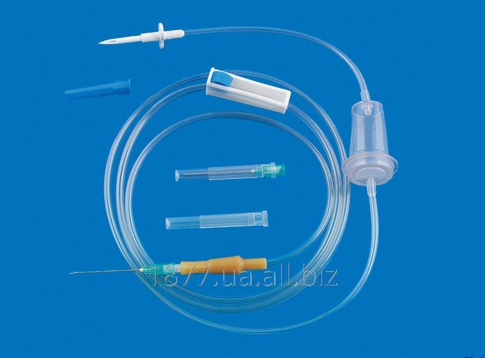 Система инфузионная  ПР,  для вливания кровезаменителей, инфузионных растворов.