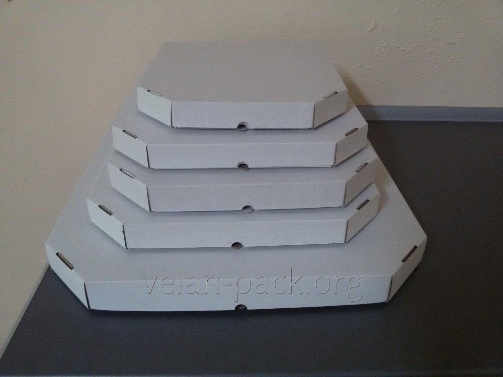 Коробки для ПИЦЦЫ (белого цвета) 250х250х30