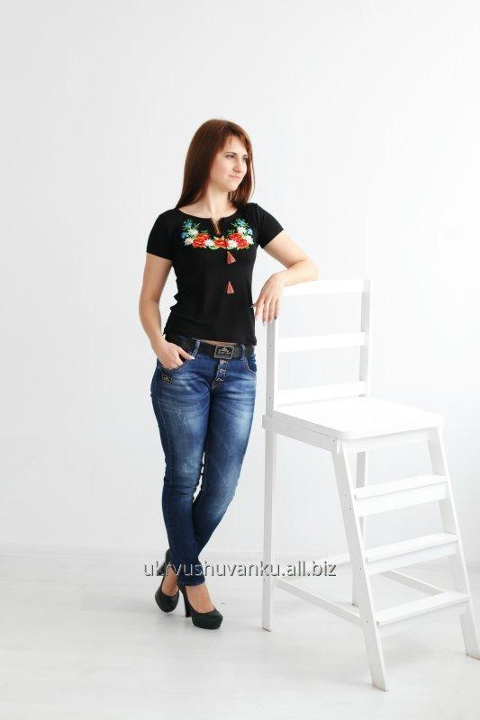 Women T embroidered colorful A-2