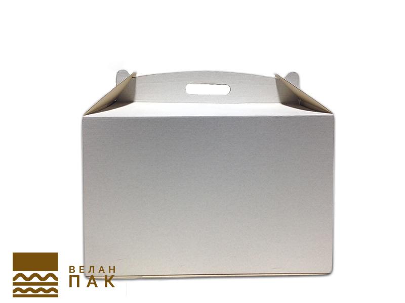 Коробка для ТОРТА (белого цвета) 400 х 400 х 300