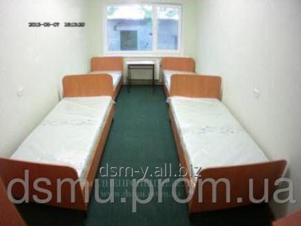 Купить Кровать 1-но спальная на металлическом каркасе с боковой стенкой для баз отдыха и турбаз, санаториев, общежитий, гостиниц