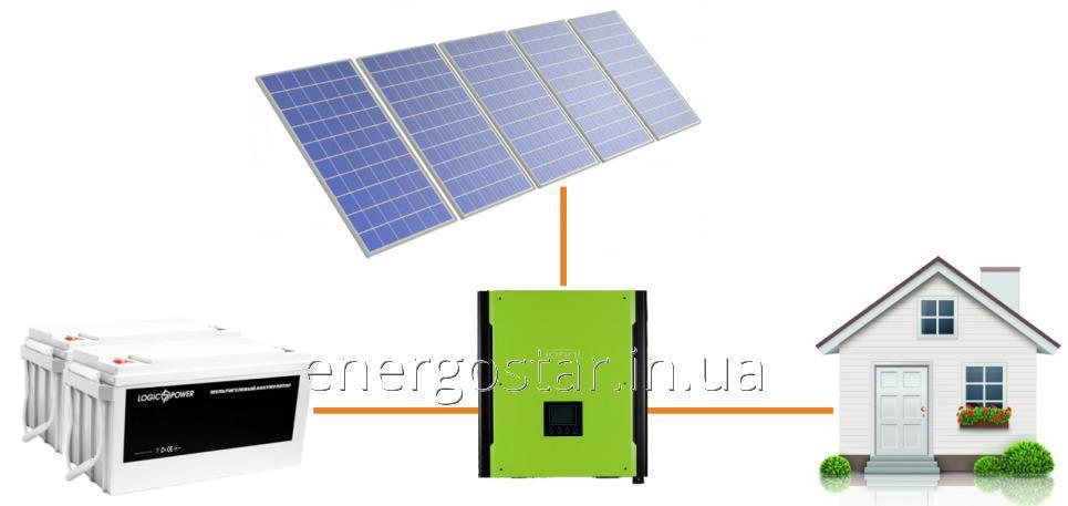 Автономная солнечная электростанция ESTAR 0,5A1 (0,5 кВт) однофазная с инвертором 1 кВт