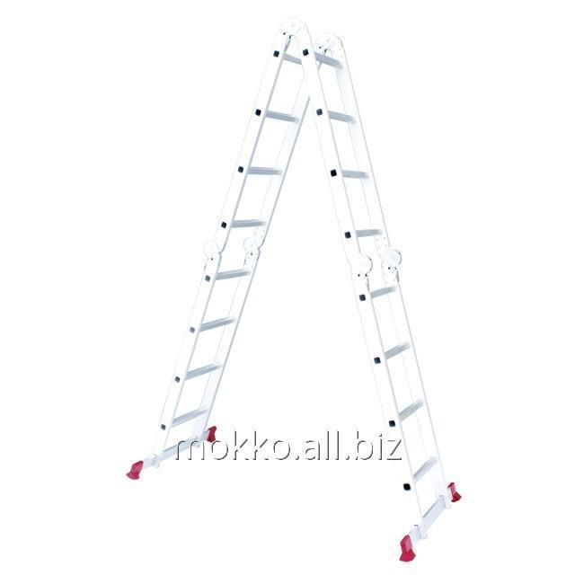 Купить Лестница алюминиевая мультифункциональная трансформер 4x4 ступ. 4,75 м INTERTOOL LT-0029
