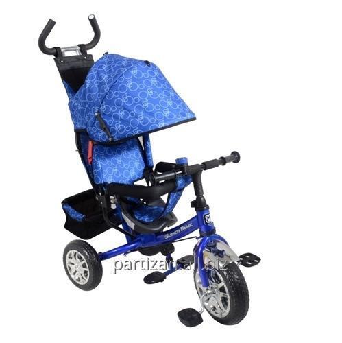 Велосипед 3-х колес VT1421 СИН 1шт колеса с подшипниками,съемная ручка,страх.,складн поднож