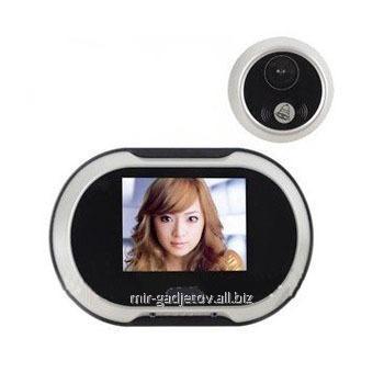 Электронный 3,5 дюймовый дверной видеоглазок с функцией фотофиксации посетителей, памятью на 100 фотографий и 16 мелодиями звонка , мод. PHV-3501