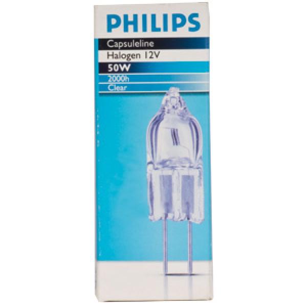 Лампа галогенная 13102 Halogen Capsule Super 50W 12V, Philips ZOOBLE
