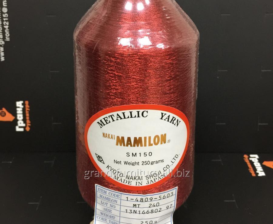 Нитка метализированая, красная mt 240