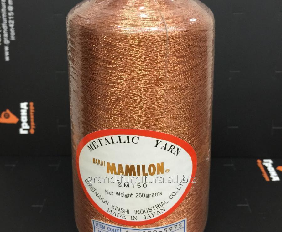 Нитка метализированая,коричневая  mt 249