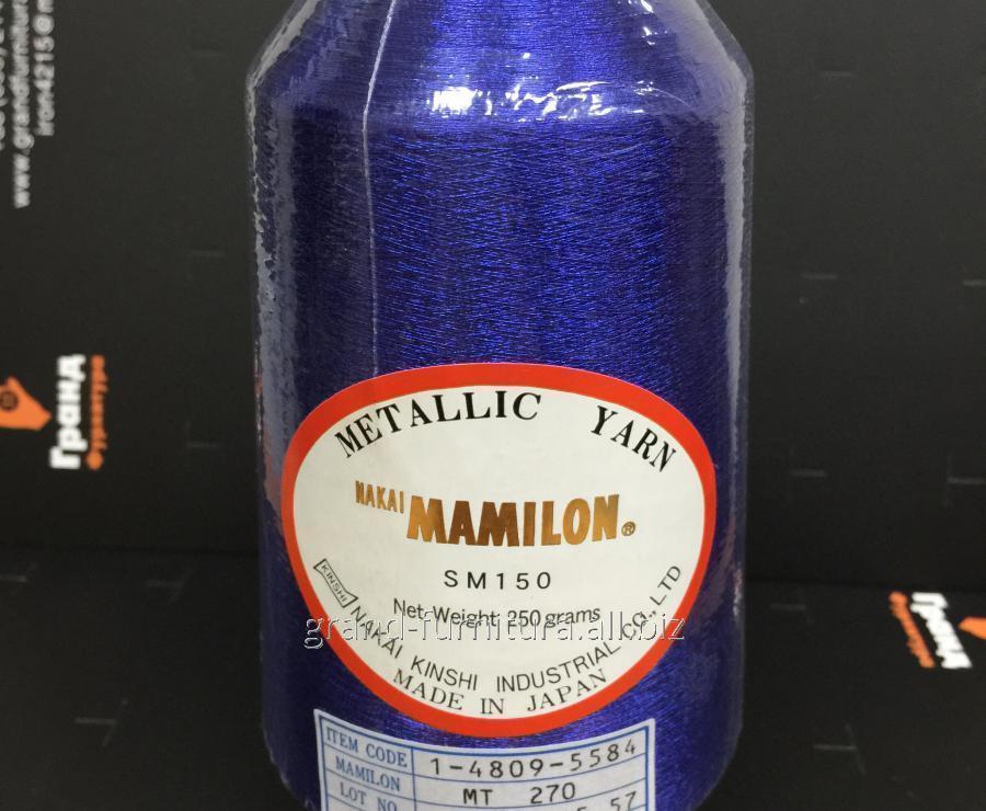 Нитка метализированая,синяя mt 270