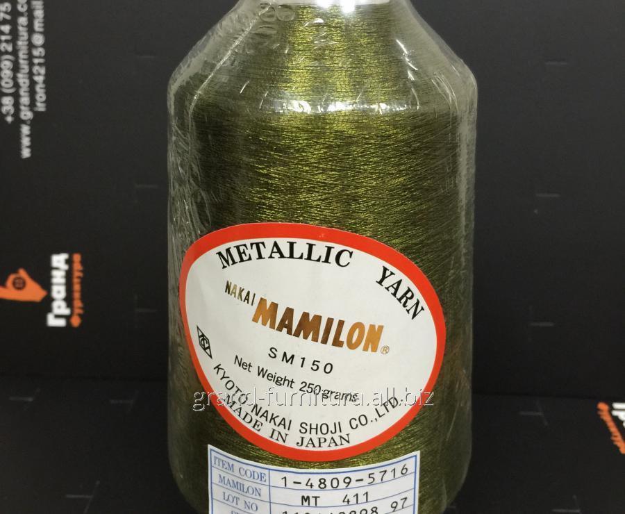 Нитка метализированая,зеленый mt 411