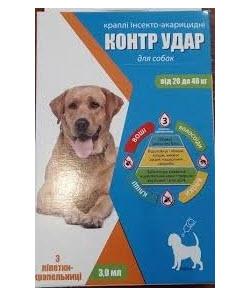 Капли инсектоакарицидные для собак Контр Удар