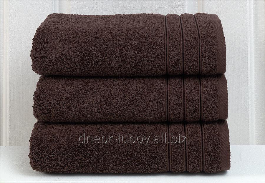 Полотенце махровое (плотность 400гр/м2), 40см*70см, коричневый