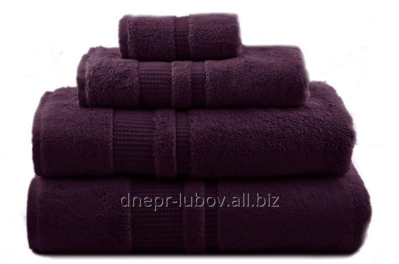 Полотенце махровое (плотность 400гр/м2), 40см*70см, фиолетовый