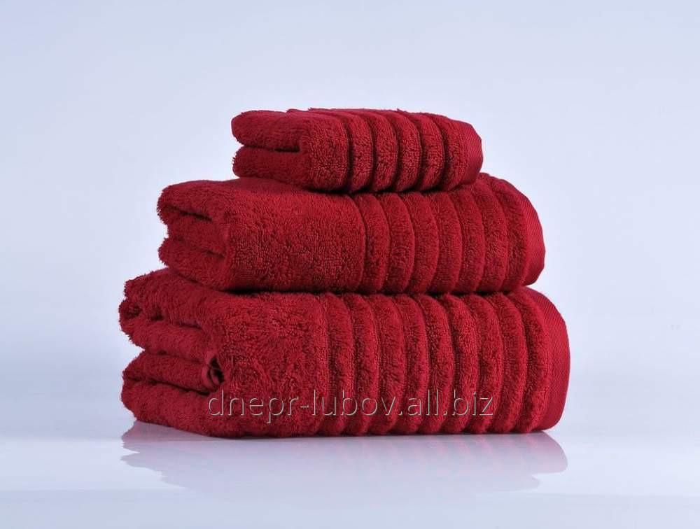 Полотенце махровое (плотность 400гр/м2), 40см*70см, бордо