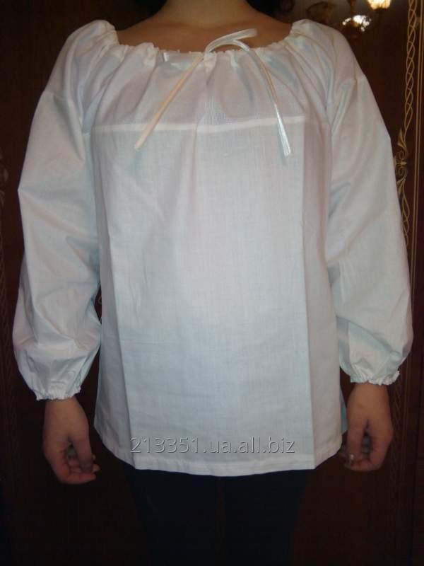 Купить Рубашка под вышивку с канвой женская