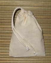 Купить Тканевый мешочек - ручная работа (неотбеленный хлопок)