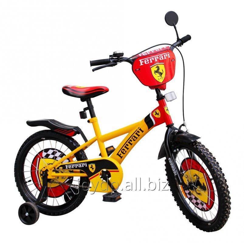 Велосипед 2-х колес 18 111808 1шт Ferrari со звонком, зеркалом, с подножкой
