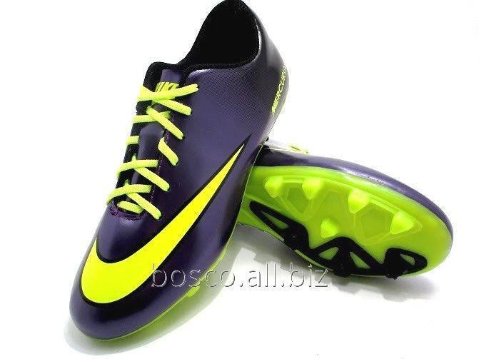 Купить Футбольные бутсы Nike Mercurial FG Purple/Volt