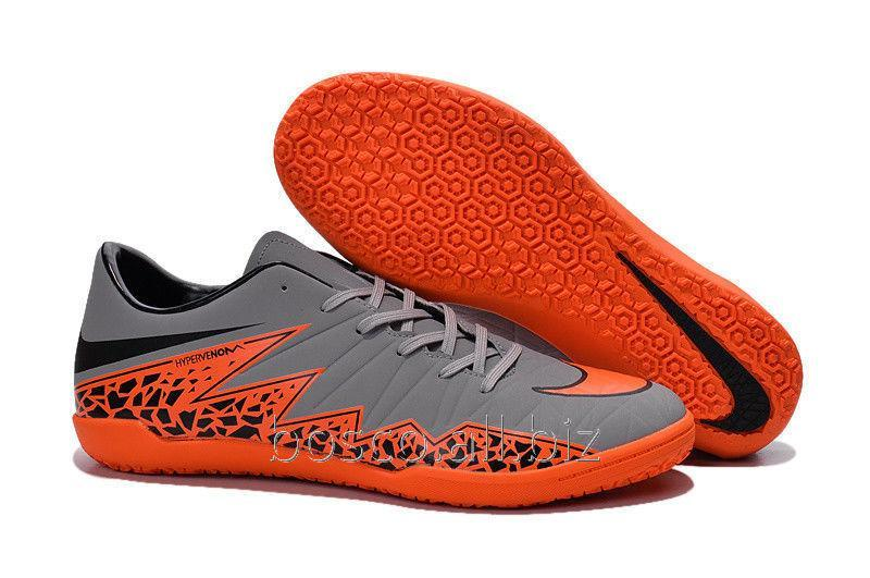 55e5700a9 Futzalki (bampa) Nike HyperVenom Phelon II IC Wolf Grey Total Orange Black  Black