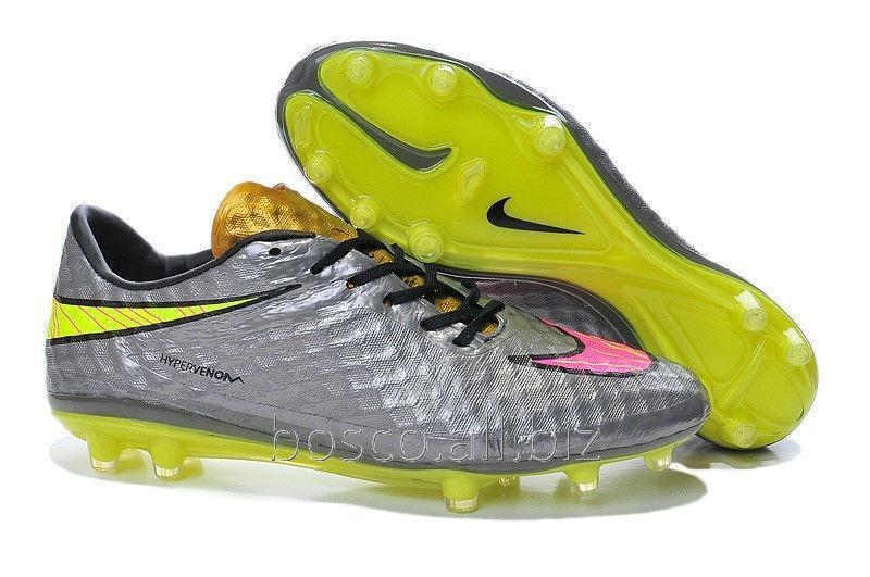 9423537e Футбольные бутсы Nike HyperVenom Phantom FG Chrome/Hyper Pink/Metallic Gold  Cn