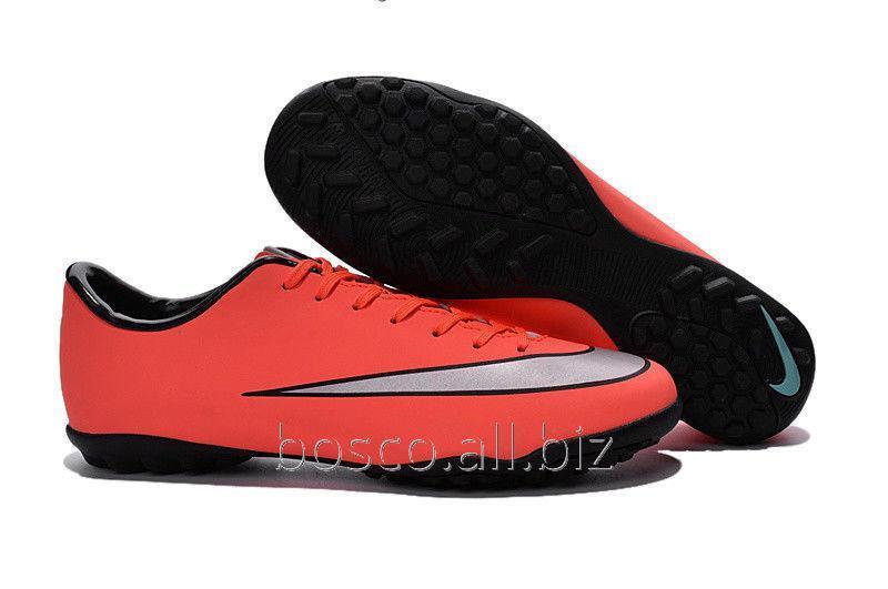 Купить Футбольные сороконожки Nike Mercurial Victory V TF Bright Mango/Metallic Silver/Hyper Turq
