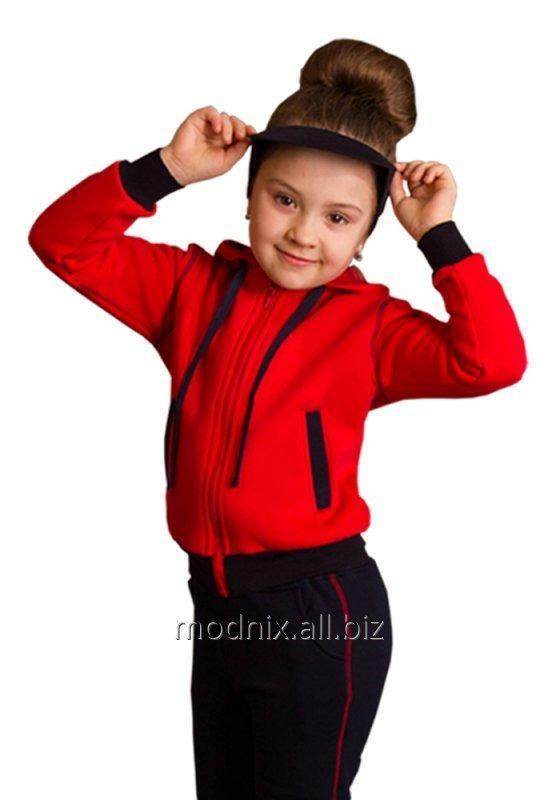 Толстовка с капюшоном на молнии для девочки Т-54, размер 68, 80, 92