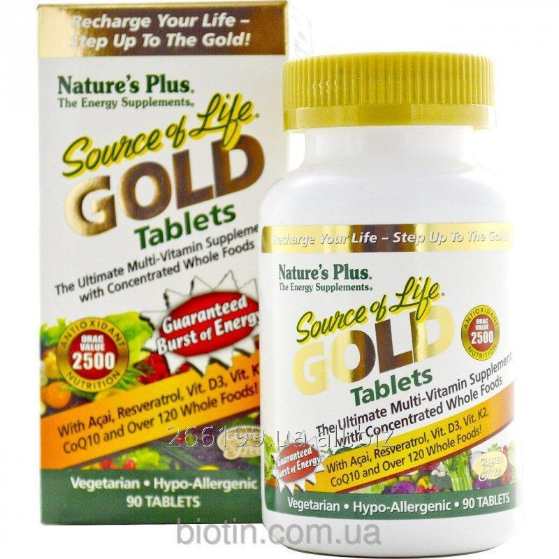 Buy Natural vitamins Nature's Plus, Source of Life Gold of 90 tablets