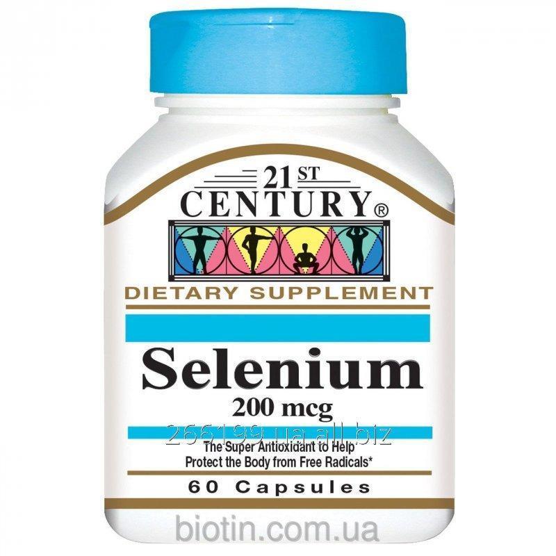 Купить Селен 21st Century Health Care, 200 мкг, 60 капсул. Сделано в США.