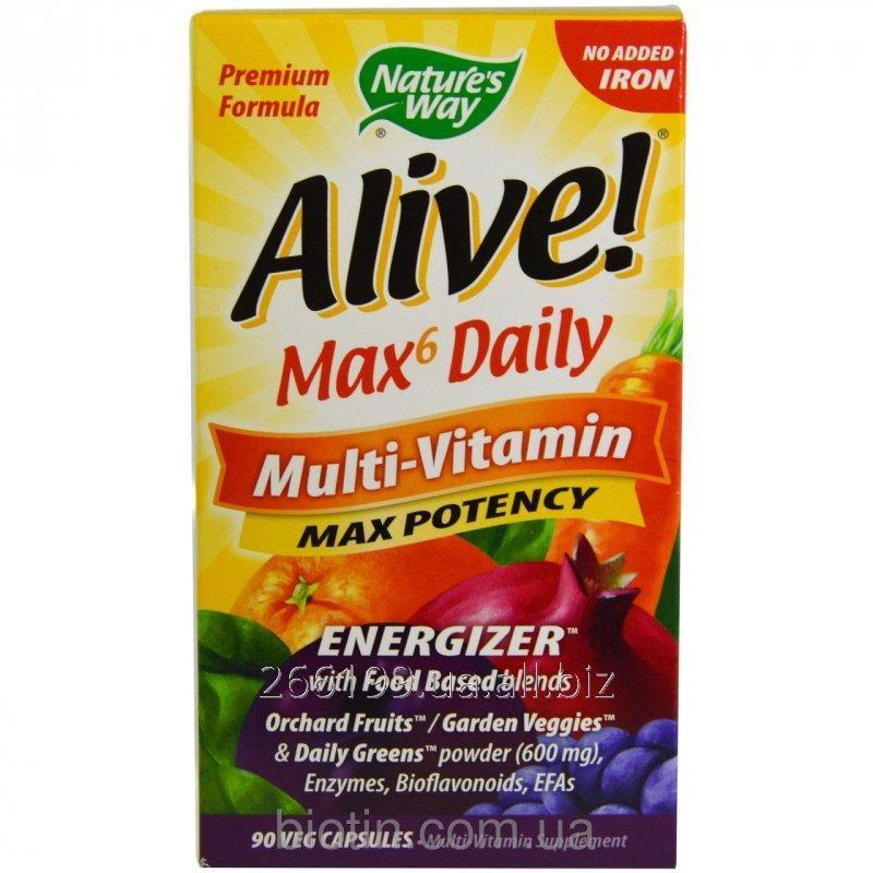 Buy Multivitamin komplek with natural products of Max Potency, Nature's Way, Alive!, 90 tablets