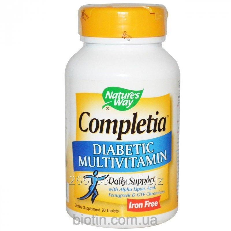Buy Diabetic vitamins Nature's Way, Completia, without iron, 90 tablets