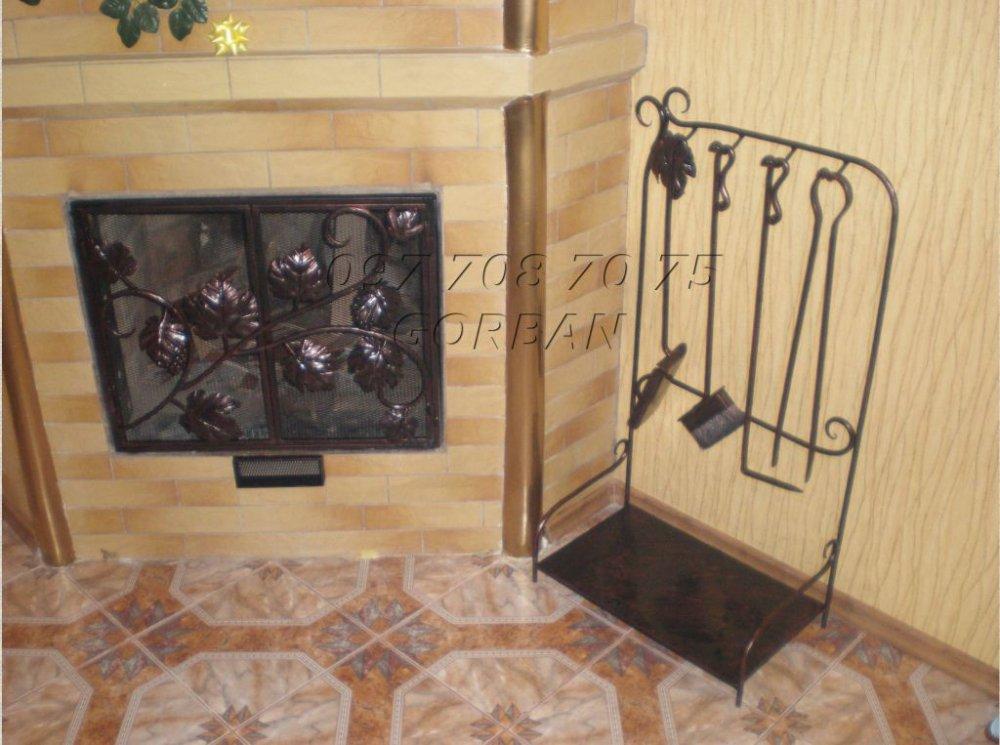 Купить Каминные принадлежности, каминные принадлежности кованые в Виннице
