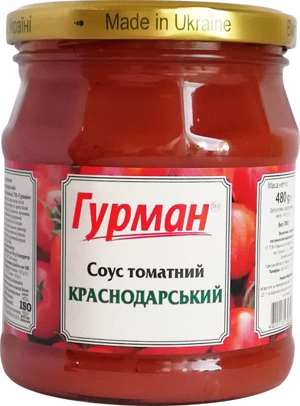 """Томатный соус """"Краснодарский"""" ТВ, 480 г"""