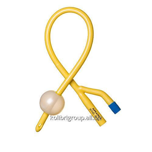 Катетер Фолея двухходовой Ch/Fr 12, 14, 16, 18, 20, 22, 24, 26, 28, 30 балон 30мл, L=400мм