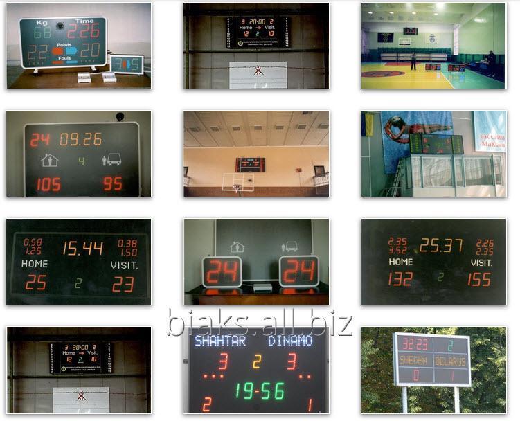 Купить Спортивное табло, табло электронной очереди, часы-табло с тремометром