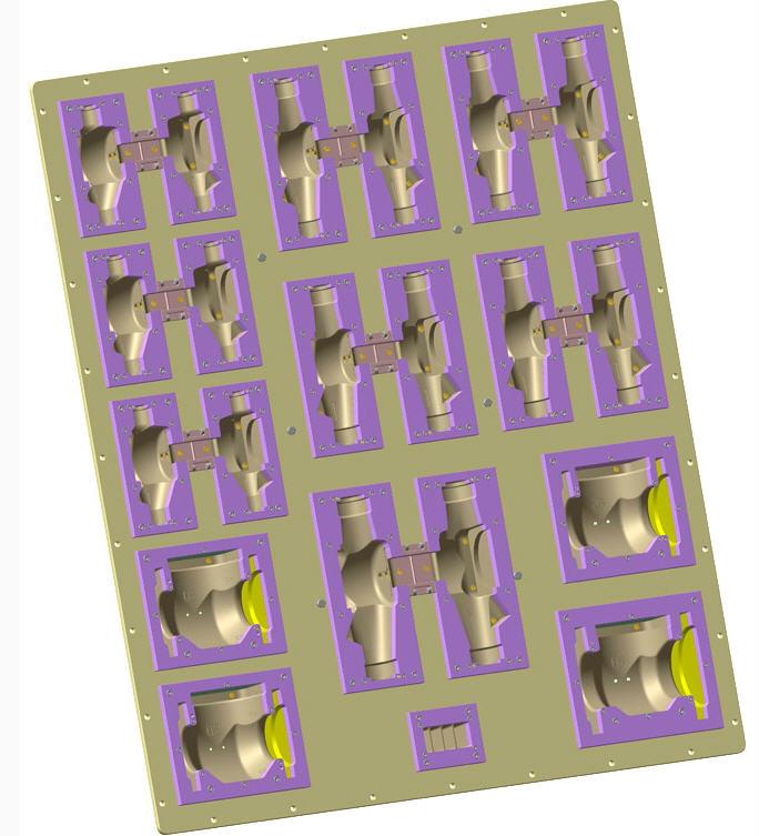 Пресс-формы вакуумируемые для автоматизированных производственных линий